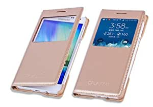 for S View Window flip cover for Samsung Galaxy on5 Gold