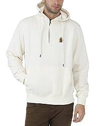 Fahrenheit Men's Fleece Sweat Shirt (8903942218644_White_Large)