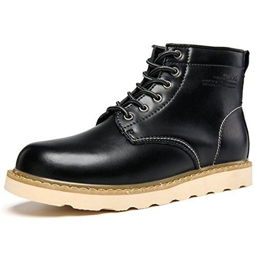 Uomo Martin stivali/Scarpe alte/Retrò in calzature con la suola spessa/ spazzolare utensileria scarpe/ tempo libero scarpe di cuoio-C Lunghezza piede=25.3CM(10Inch)