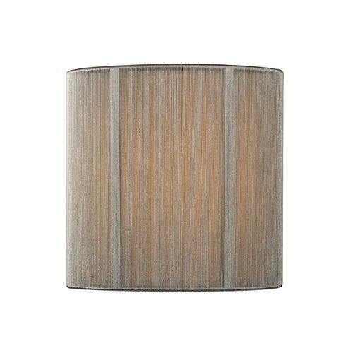 Silver String Drum Lamp Shade with Uno Assembly