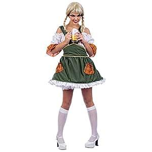 German Bavarian Beer Maid Wench - Womens Fancy Dress Costume - M