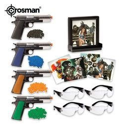 Crosman Undead Apocalypse Airsoft Fun Kit with Zombie Targets