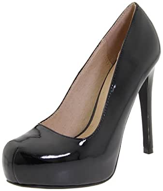 Chinese Laundry Women's Whistle Platform Pump,Black Patent,5.5 M US