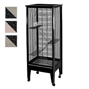 Medium 4-Level Small Animal Cage Color: Platinum with Black