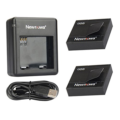 Newmowa 1200mAh Rechargeable Battery (2-Pack) and Dual USB Charger for Xiaomi Yi Action Camera(Only Compatible with International Edition) (Battery For Camera compare prices)