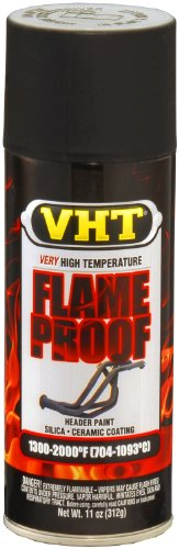 VHT SP102 FlameProof Coating Flat Black Paint Can - 11 oz. (Hi Temp Flat Black Paint compare prices)