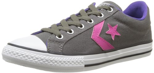 CONVERSE Unisex-Child Star Player Ev Lacet Ox Trainers 367530-42-122 Anthracite 4 UK, 37 EU
