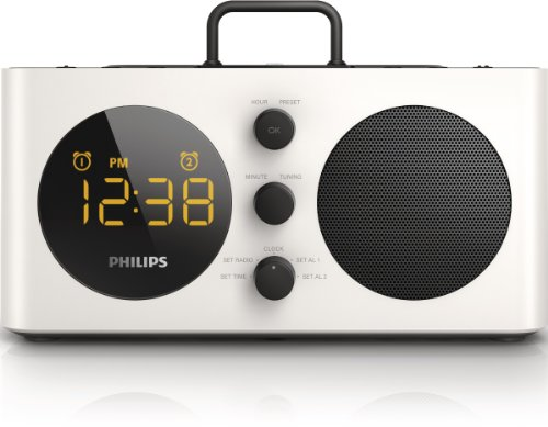 philips alarm clock radio for ipod iphone with lightning connector usb port fm dual alarm. Black Bedroom Furniture Sets. Home Design Ideas