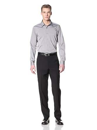 corbin s wool stretch flat front trousers