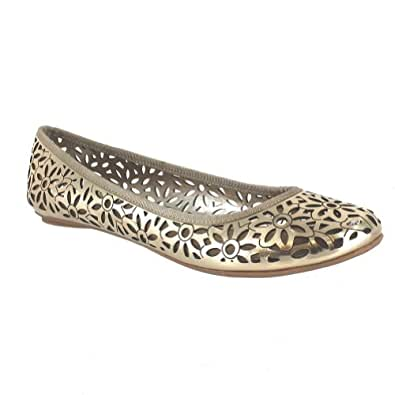 Kenneth Cole Reaction Womens Slip-Ster Gold Flats 10 M