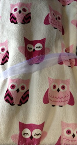 Thro by Marlo Lorenz Orly Owl Micro Plush Baby Blanket 30 by 40