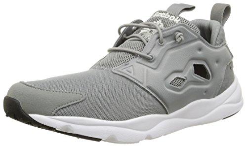 Reebok Furylite, Scarpe sportive, Uomo, Multicolore (Flat Grey/White/Black), 40.5