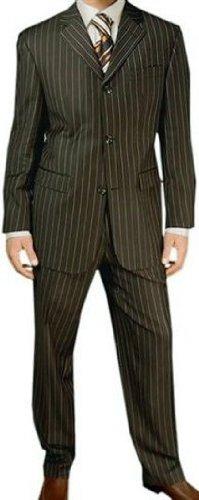 MUGA Pinstripe mens Suit + Waistcoat, Anthracite, size 54L (EU 122)