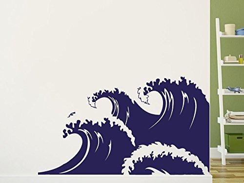 Wall Decal Vinyl Sticker Decals Art Decor Design Waves Bid Wave Surf Ocean Sea Nature Salior Beautiful View Bedroom Dorm Office(R1077) front-755566