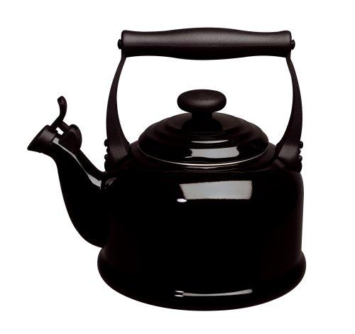 Le Creuset Enamel-on-Steel Demi 1-1/4-Quart Teakettle, Black (Le Creuset Black Whistling Kettle compare prices)