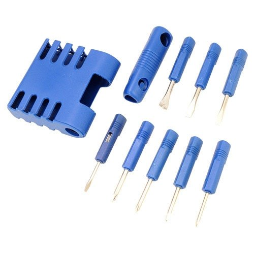 Siam Circus 8 in 1 Portable Tool Kit Screwdriver Kit Stainless Steel Screwdriver-Blue