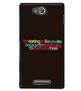 Fuson 2D Printed Quotes Designer back case cover for Sony Xperia C - D4529