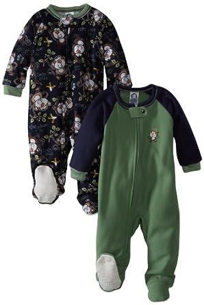 64f6e8844a Gerber Baby-Boys Newborn 2 Pack Infant Blanket Sleepers