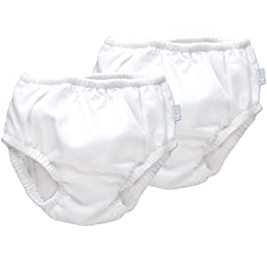 iPlay Ultimate Swim Diaper - White, 2 Pack (18 Months)