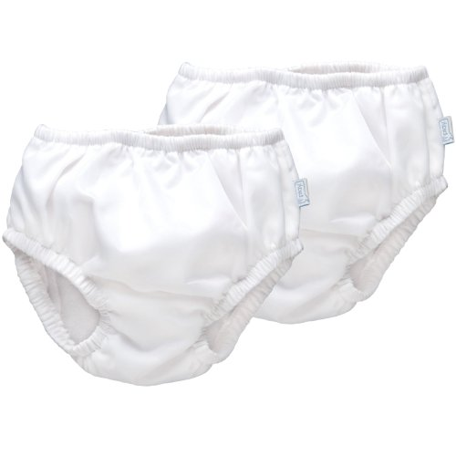 iPlay Ultimate Swim Diaper - White, 2 Pack (6 Months)