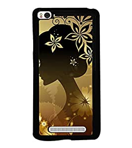 Fuson Premium 2D Back Case Cover Animated girl With Black Background Degined For Xiaomi Redmi Mi4i::Xiaomi Mi 4i