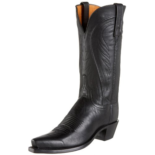1883 by Lucchese Women's N4605 5/4 Western Boot,Black burnish,10 B(M)US