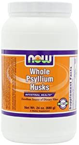 NOW Foods Whole Psyllium Husk, 24 Ounce Bottle