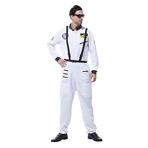 [LifeshoppingMall Unsex Halloween Spaceman Cosplay Costume Jumpsuits] (Spaceman Suit Costume)