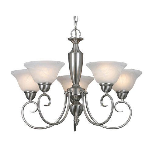 B0017YM46Q Golden Lighting 1395 PW Centennial PW Five Light Chandelier, Pewter Finish