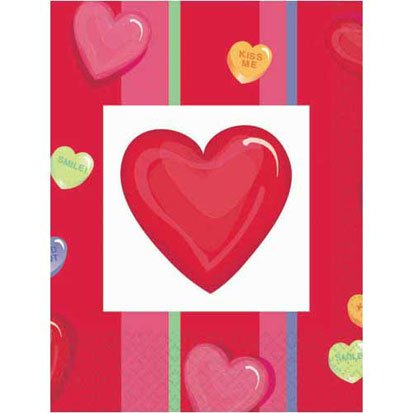 Candy Hearts 54in x 96in Paper Table Cover