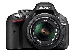 Nikon D5200 24.1MP Digital SLR Camera (Black) with AF-S 18-140mm VR Lens + 8GB Card + Camera Bag + Free 16GB (Class 10) SD Card