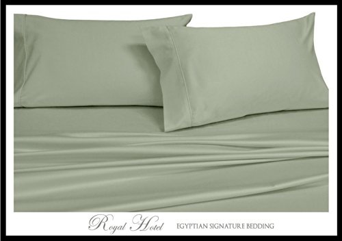 Royal Hotel'S Solid Sage King Size 7Pc Bedding Set 300Tc 100% Rayon From Bamboo front-1011255