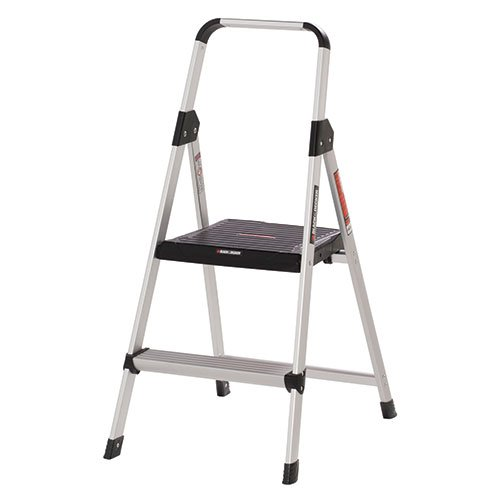 Black Amp Decker Bxl2260 02 Two Step Aluminum Step Stool