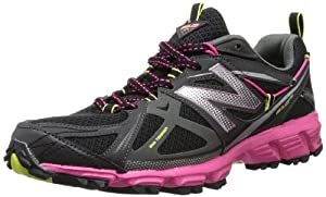 New Balance Women's WT610 Trail Running Shoe,Black/Pink,9 D US