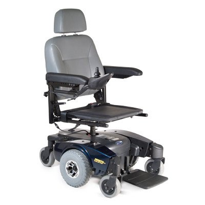 """Pronto M51P Power Wheelchair With Solid Seat Base Seat Size: 20"""" W X 18"""" D, Color: Red"""