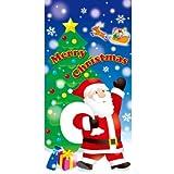 【クリスマス装飾デコレーション】サンタギフト タペストリー(1個)  / お楽しみグッズ(紙風船)付きセット [おもちゃ&ホビー]