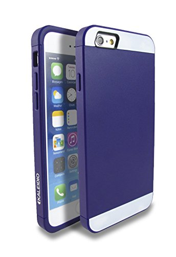 Kaleidio TM [Colour Series] Multi Tone Dual Layer Protective Case for Apple iPhone 6 (4.7) [Package Includes a Overbrawn Prying Tool] - Retail Packaging (Purple/Purple)