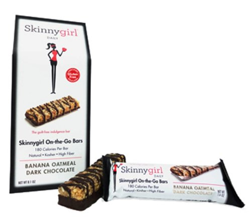 Skinny Girl On The Go Protein Bar, Banana Oatmeal Dark Chocolate, 5 ...