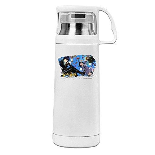 Estelle Manga Noragami Cute Design Logo Transparent Cover Vacuum Cup White