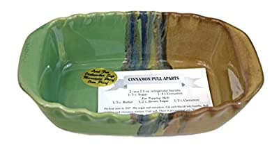 Clay In Motion Handmade Ceramic 1.25 Quart Loaf Pan - Mountain Meadows