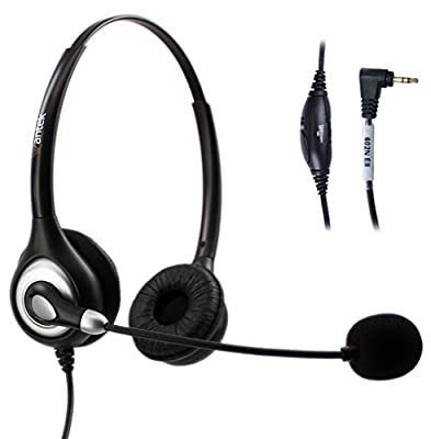 Arama Wantek Wired Telephone Headset Mono with Noise Canceling Mic Volume Mute for Cisco Linksys SPA Polycom Grandstream Panasonic Zultys Gigaset Office IP and Cordless Dect Phones with 2.5mm Jack