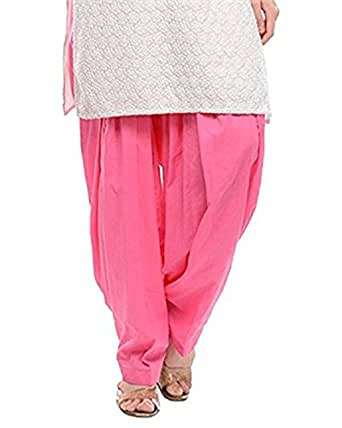 Pistaa Light Pink Pure Cotton Patialas For Womens