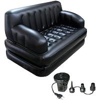 Sahibuy 5 In 1 Sofa Cum Bed Air Lounge (Multicolor)