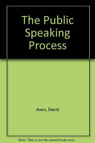 The Public Speaking Process
