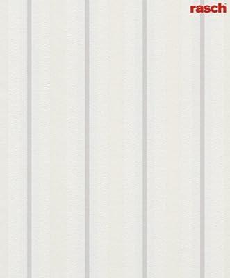 Soft Velvet Non-woven Striped Wallpaper Leaf Design Classic White