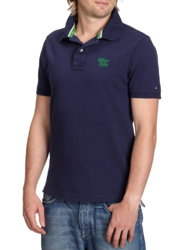 Tommy Hilfiger Mens Peacock Pilot Polo Shirt PEK Medium