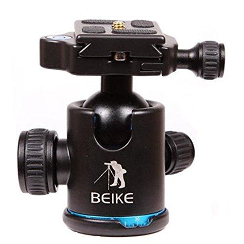 beike-bk-03-camera-tripod-ball-head-ballhead-with-quick-release-plate-1-4-screw-blue
