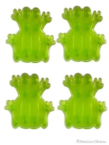 NEW Set 4 PACK Green Frogs Anti Non Slip Bath APPLIQUES Shower Mats Stickers