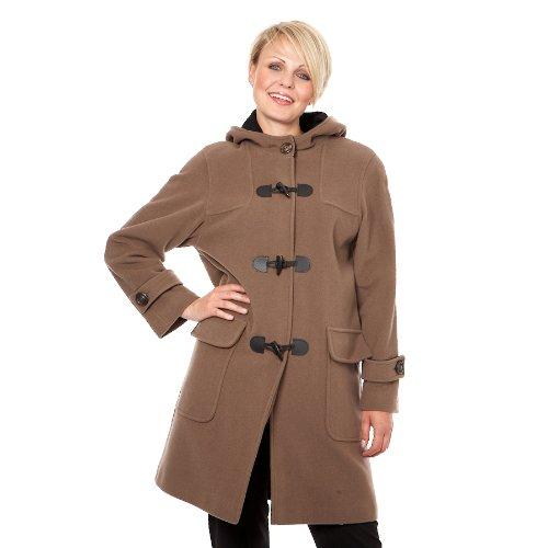 Kesta-Womens Casmere Wool Taupe Duffle Coat Size 10 38
