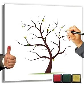 wedding tree leinwand 60x60 cm inkl stempelkissen der weddingtree baum als wedding tree. Black Bedroom Furniture Sets. Home Design Ideas